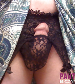 Lots of sexy panties covering these pantie boyz hard cocks